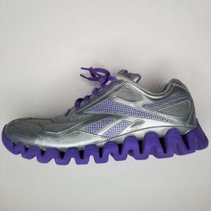Reebok Zig Zag Tech Sneakers 6 Silver Purple